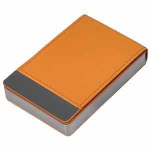 Оранжевая визитница Вертикаль