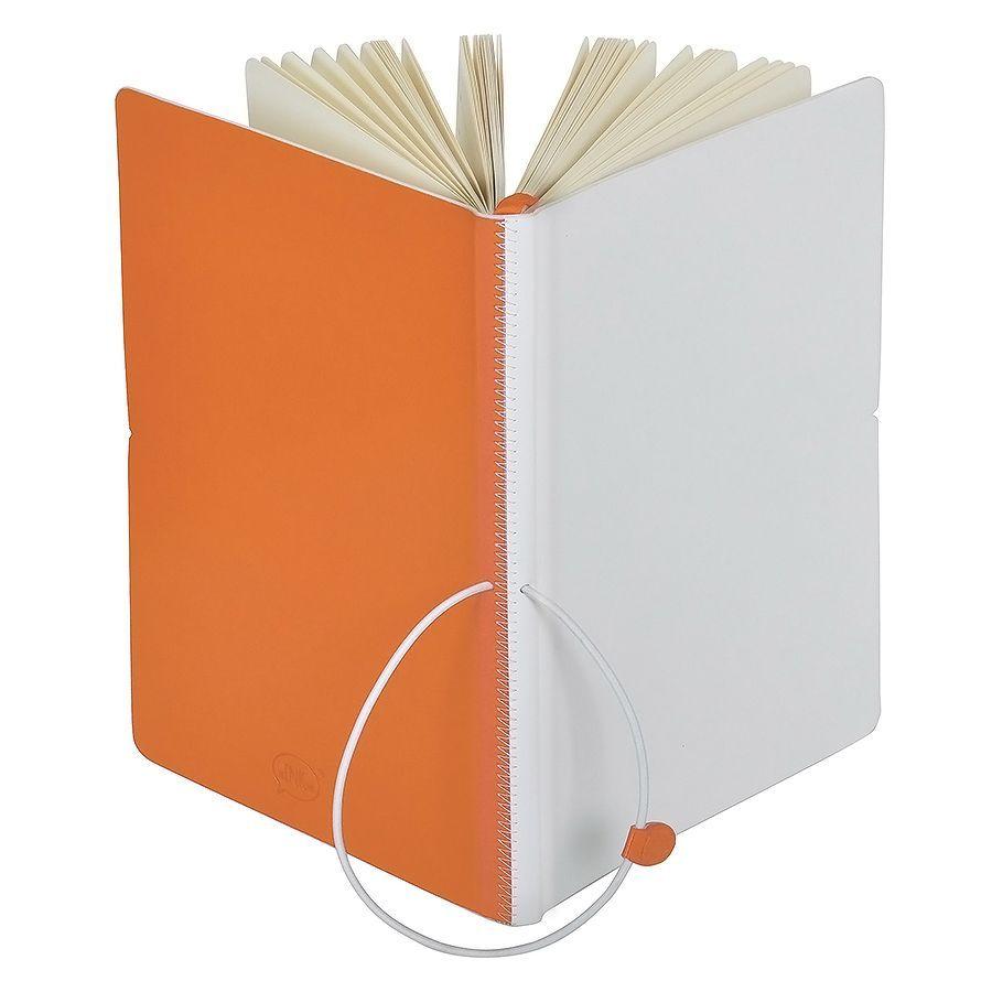 Ежедневник Franky  А5 оранжевый с белым