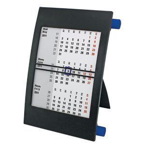 Календарь настольный на 2 года черный с синим