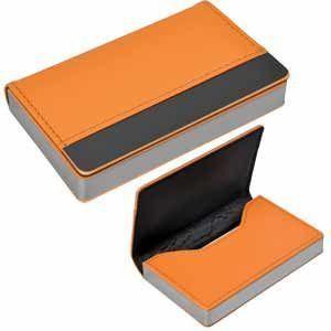 Оранжевая визитница Горизонталь