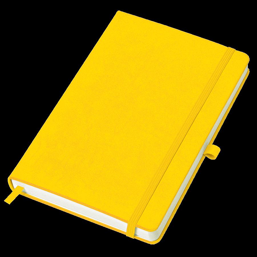 Желтый бизнес-блокнот Justy А5