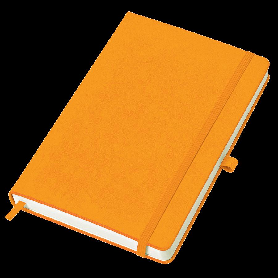 Оранжевый бизнес-блокнот Justy А5